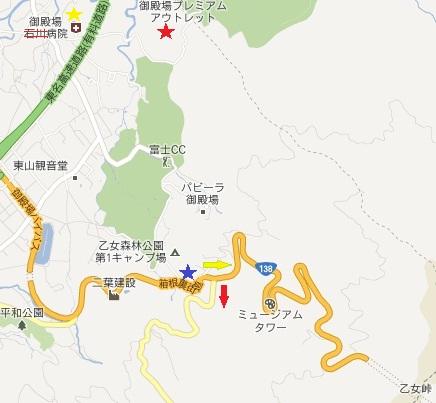 箱根裏街道地図